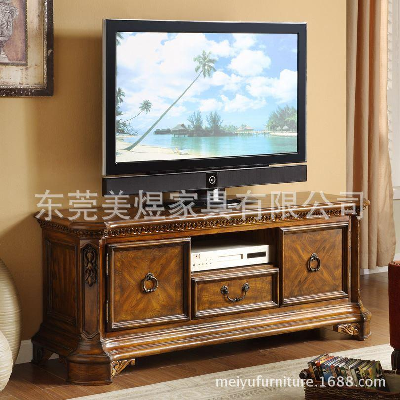American wood TV cabinet table high-grade Antique Oak and the living room TV  cabinet Dongguan Houjie furniture - Best American Wood Tv Cabinet Table High Grade Antique Oak And The