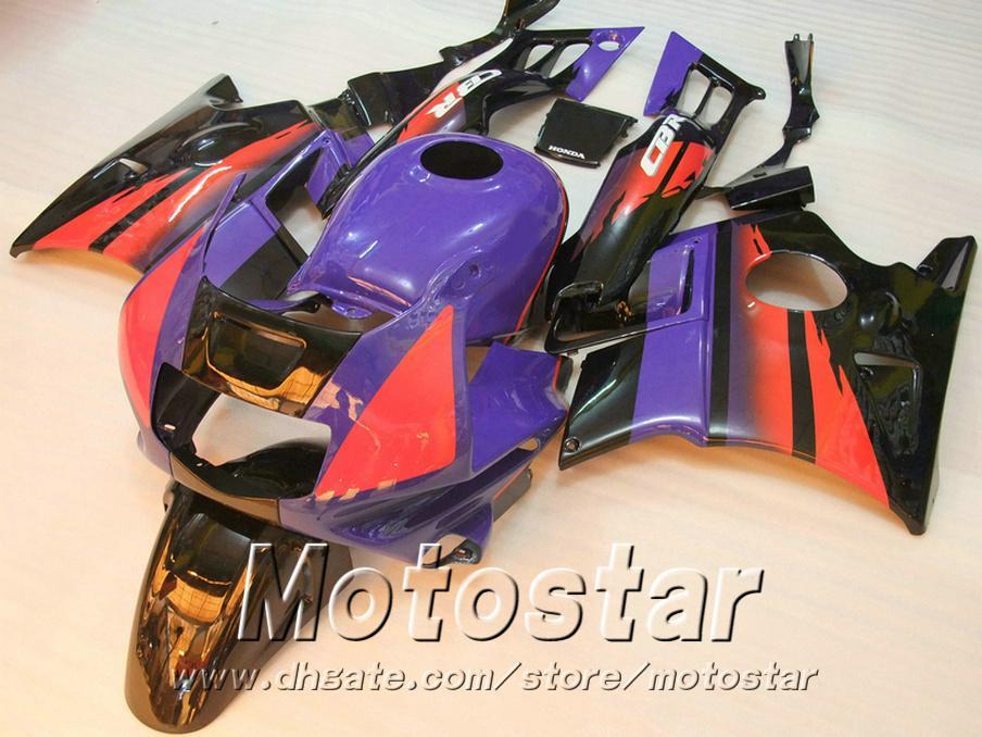 Motorcycle fairings for HONDA CBR 600 1991 1992 1993 1994 F2 CBR600 91 - 94 purple black white plastic fairing kit RP14