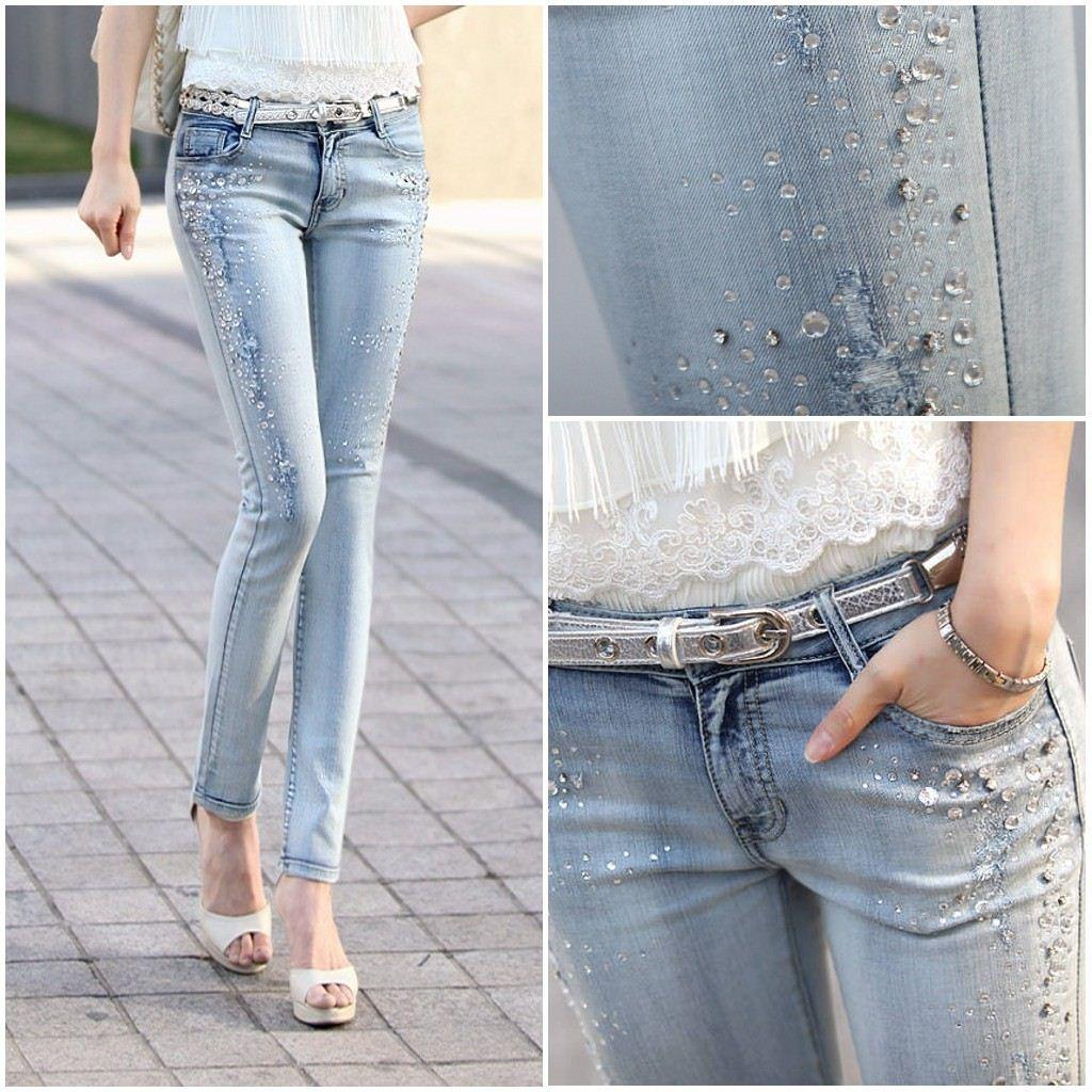 strass jeans