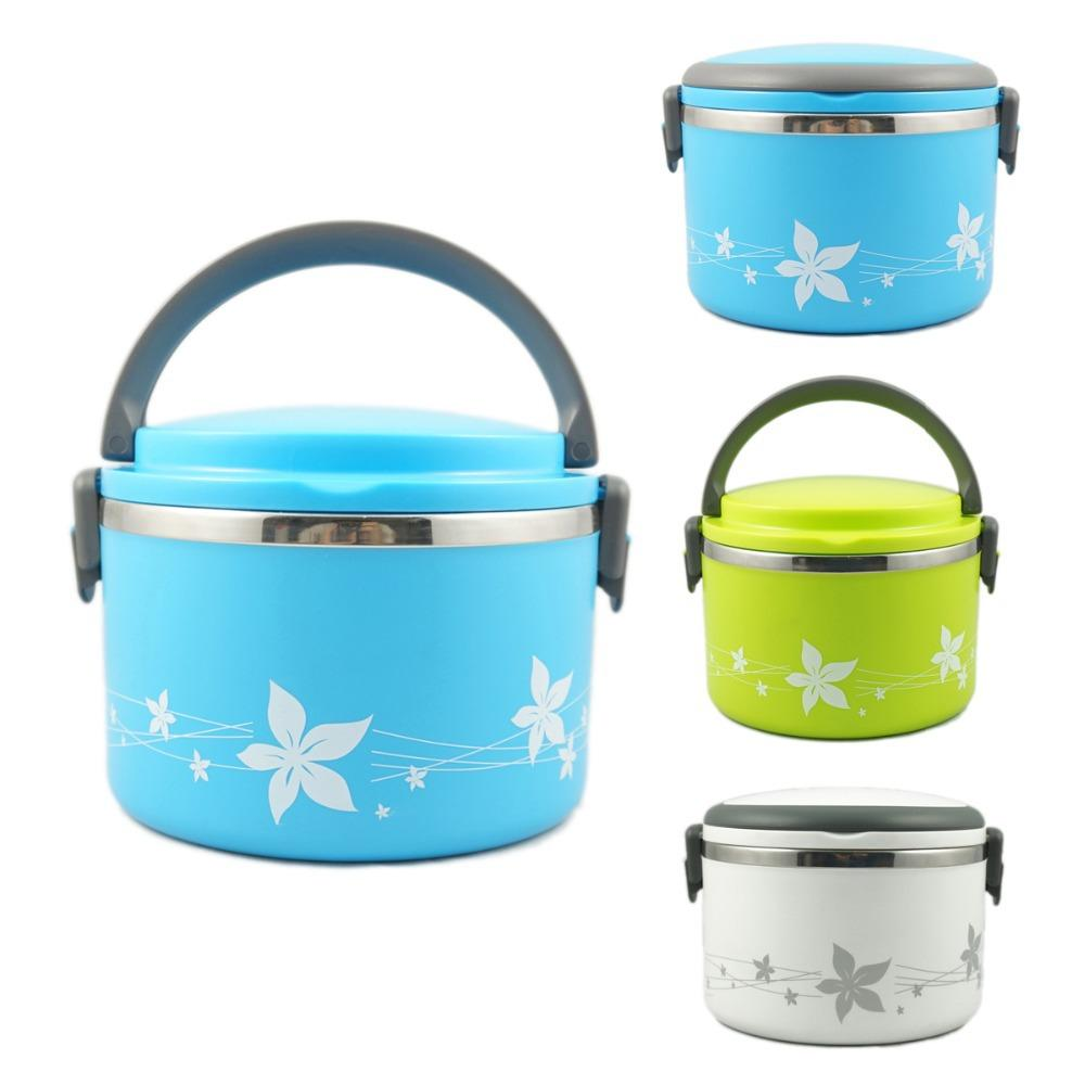 2018 korean stainless steel thermos bento lunch box for kids food box thermal food container. Black Bedroom Furniture Sets. Home Design Ideas