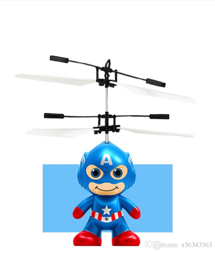 RC Toy Flying remote control Spaceman Helicopter induction aircraft toy helicopter drone indoor children gift Toys