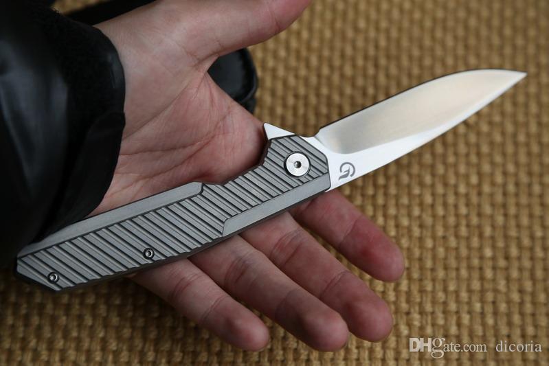 Dicoria Longwind F-1601 CPM 20CV lame roulement à billes TC4 titane couteau pliant tactique camp chasse survie en plein air couteaux de poche outil EDC