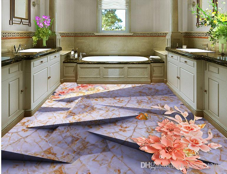photo papier peint Underwater world floor background peinture murale 3d Floor Murals