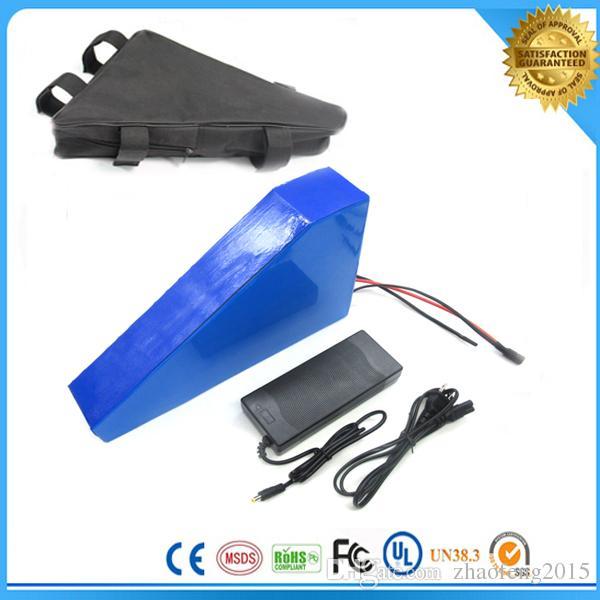 Bolsa gratis de batería de bicicleta eléctrica 48v batería de litio 48V 20AH batería de bicicleta eléctrica 1000w, con 54.6V 2A cargador 30a BMS