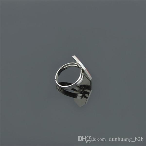 Modelowe pierścienie Hurtownie 100 sztuk dużo inteligentne pierścienie Magiczny pierścień fluorescencyjny klejnot Geometria pierścień Inteligentny kolor Kreatywny pierścień Lovers Love Prezent !!!