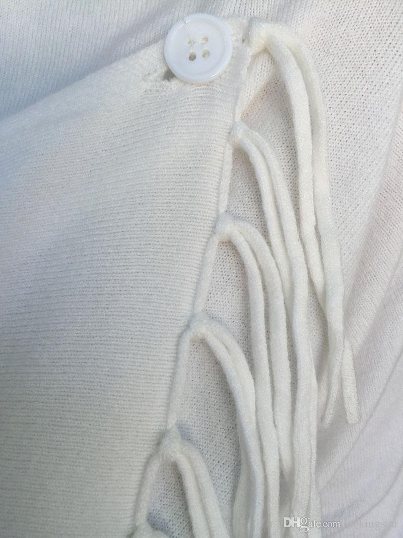 2018 New Fashion Women Autunno Casual Jacket manica lunga lavorato a maglia frangia nappa cardigan maglione allentato Outwear cappotto invernale