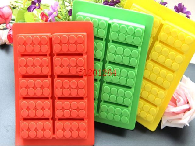 Building blocks LFGB block brick Ice Mold Silicone Ice Cube Tray Size 19x11cm