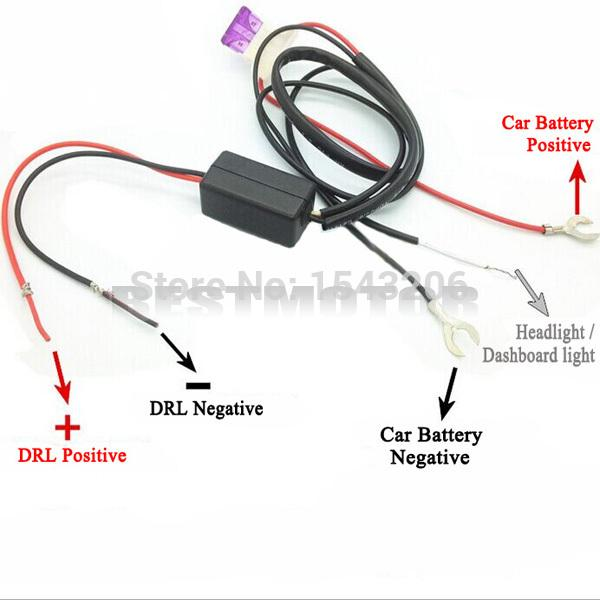 Car Led Daytime Running Light Controller Drl Relay Harness On/off Automatic Electric Vehicle Parts
