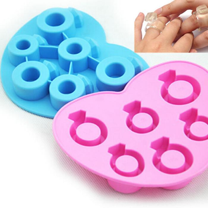 Silicone Ring With Diamond >> 2018 Mixed Diamond Ring Ice Mold Silicone Mold Cooking Tools