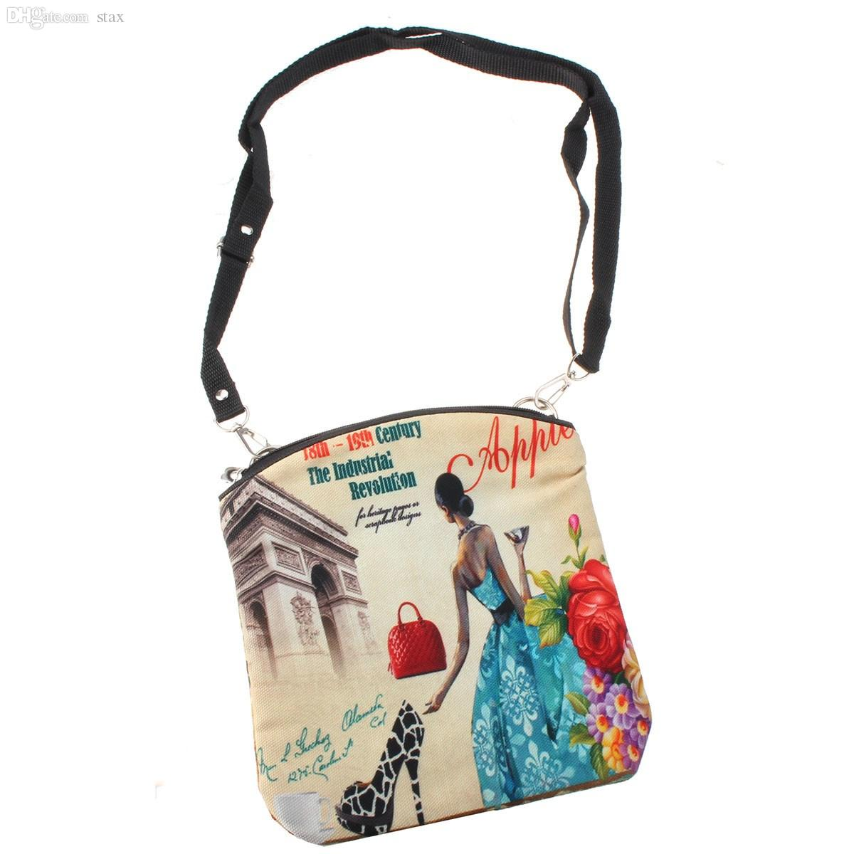 ef5655281816 Wholesale New Women Messenger Bags Vintage Canvas Printing Small Satchel  Shoulder European Style Girls Handbag Lady Bolsa Crossbody Bag Ladies  Handbags ...