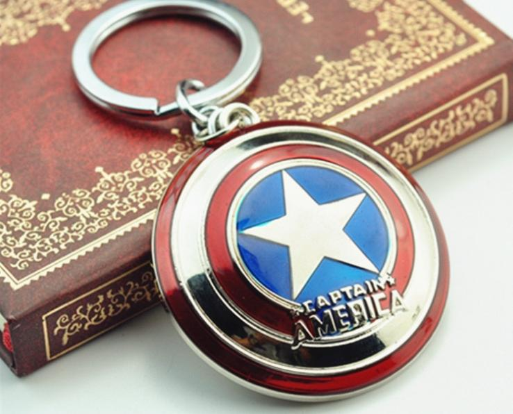 Avenger Keychain The Avengers 2015 Marvel Avengers Steve Rogers Captain America Pendant Key Chains Shield Zinc Alloy Keychains