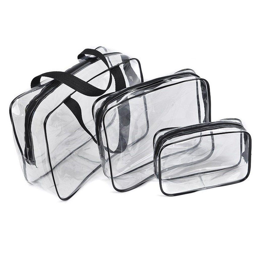 3-in-1 PVC Transparent Waterproof Multifunctional Cosmetic Bags
