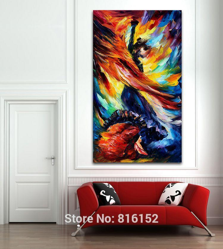 Office wall prints Display 2019 Flamenco Girls Dance Modern Abstract Palette Knife Oil Painting Canvas Prints Home Hotel Office Wall Decoration From Asenart 834 Dhgatecom Catbirddesignco 2019 Flamenco Girls Dance Modern Abstract Palette Knife Oil