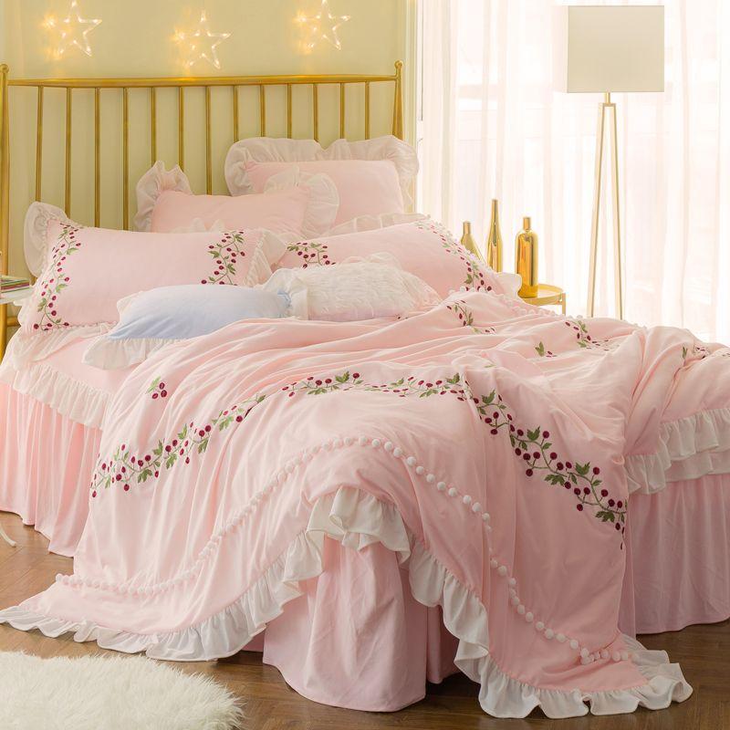 Winter Thick Fleece Pink White Princess Designer Bedding Sets Queen King  Size Girls Bed Set Duvet Cover Bed Skirt Set Gifts Tinkerbell Bedding Queen  Size ...