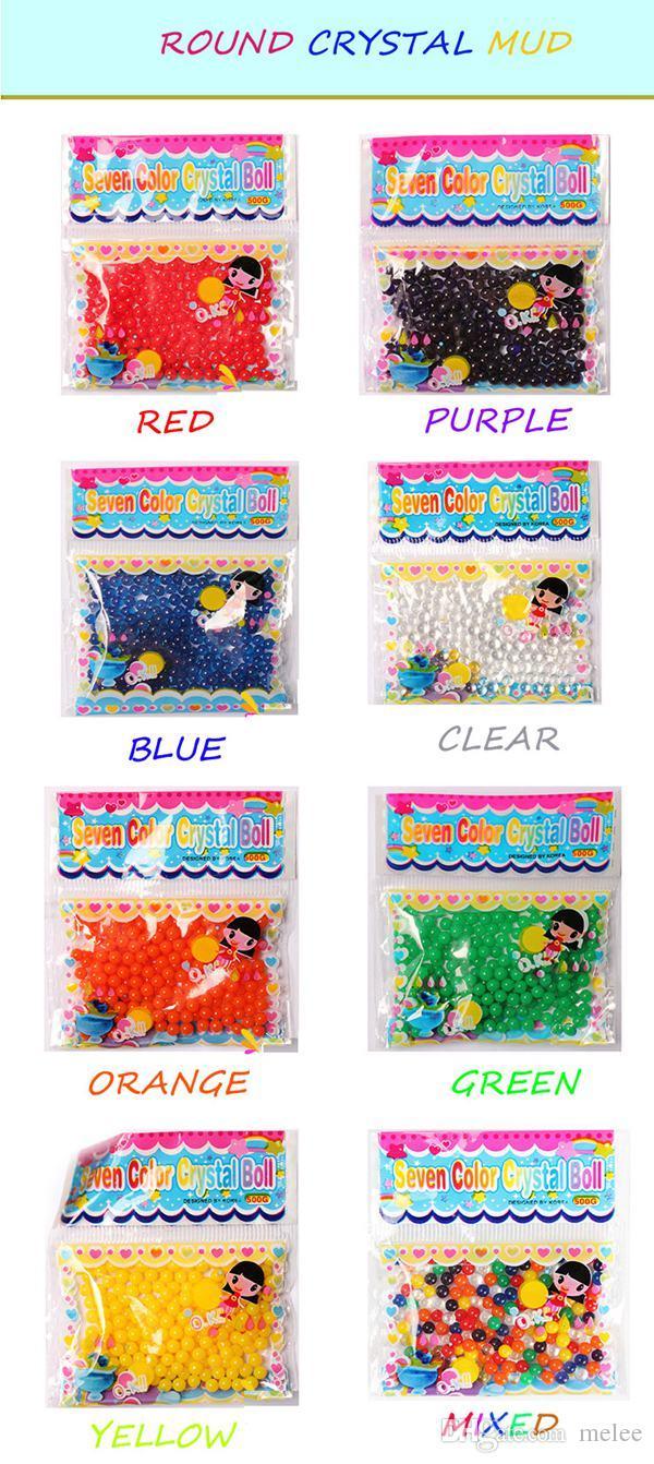 Fedex DHL EMS Eau Magique Plante Fleur Jelly Cristal Sol Boue Perles dʻeau Gel Perles Boules Cristal Boue Boule 2.5mm 3g 1000g /