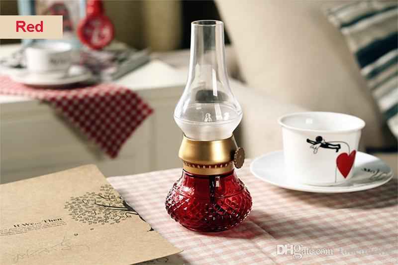 LED RETRO LAMP BLOWING Control KEROSENE VINTAGE LED Lamp Classic USB Rechargeable Kerosene Candle Night Lights DeskTable LED Lamp Novelty