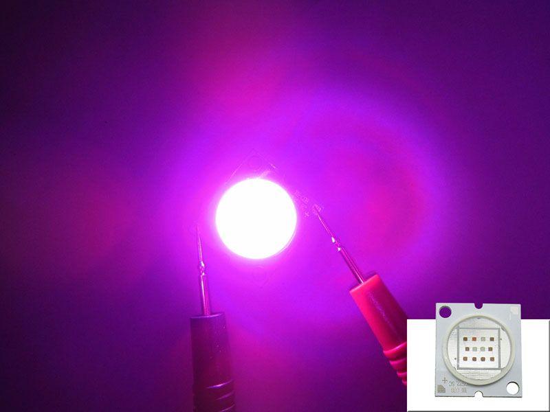 12W - 24W البوليفيين Epileds 45MIL 430NM الأشعة فوق البنفسجية + 630NM الأحمر + 460NM الأزرق + 660NM العميق الأحمر الصمام رقاقة ضوء 28-35V 350-700MA 15 قطعة / الوحدة