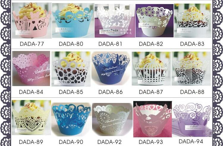 New Arrival Laser Cut Hollow Cupcake Wrapper Cake Liners Decorating Boxes For Wedding Baby Shower Favor Supplies Personalized Gift