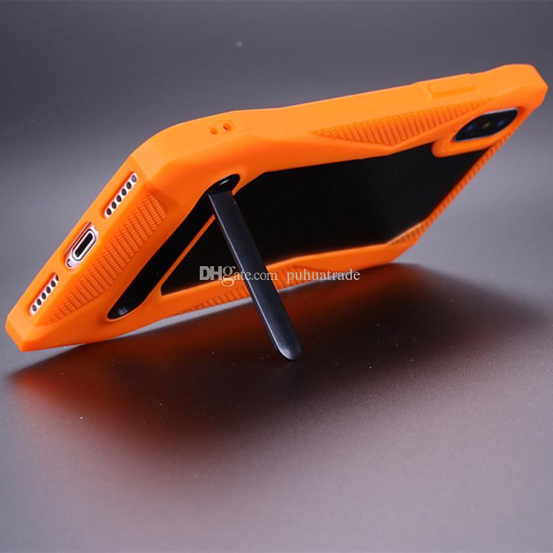 Новейший 3D Luxury Carbon + TPU + Металлический Корпус Прохладный Спортивный Гоночный Автомобиль Дизайн Anti-Knock Задняя крышка Задняя крышка для iphone X