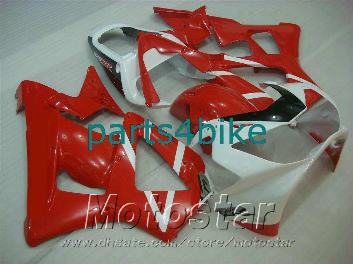 Lowest price fairings for HONDA CBR929RR fairing kit CBR 929 2000 2001 red black white bodykits CBR 900 RR 00 01 CBR900RR HB82