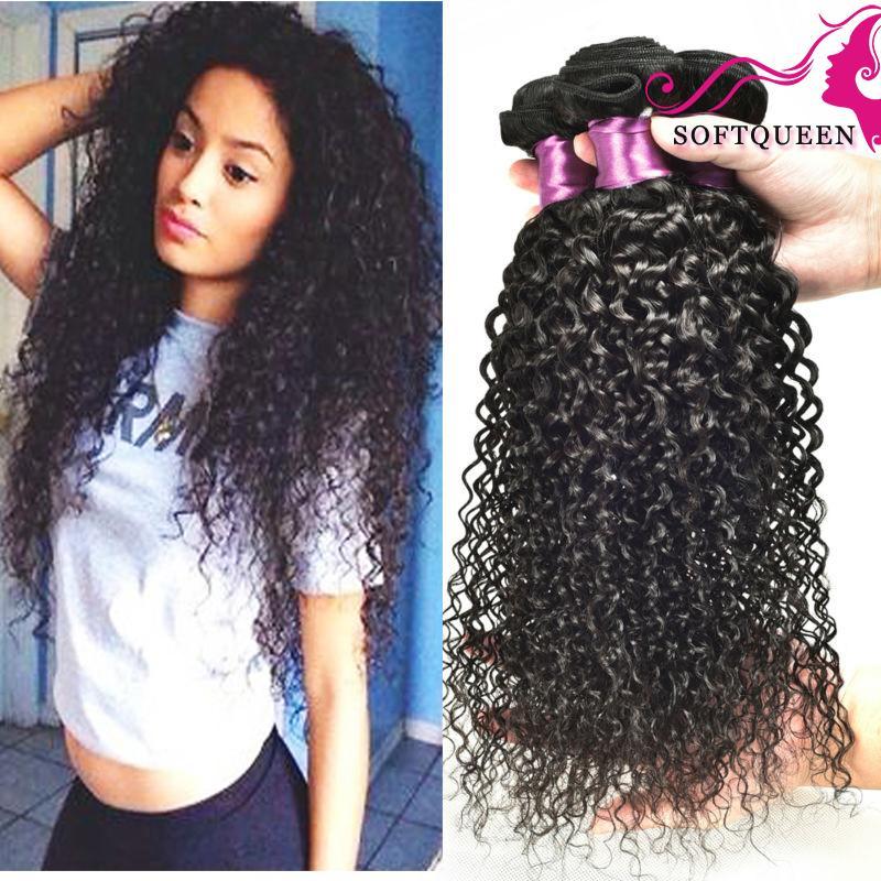 Hair Extensions & Wigs Yvonne Virgin Malaysian Curly Hair 3 Bundles Human Hair Weave Natural Color 3/4 Bundles