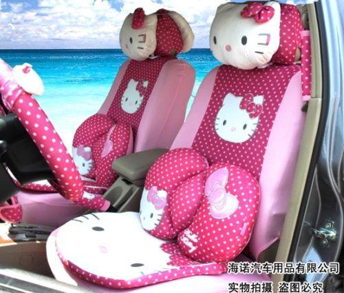 pink polka dot hello kitty car seat covers set covers for cars slipcovers for car seats from dhgatecom