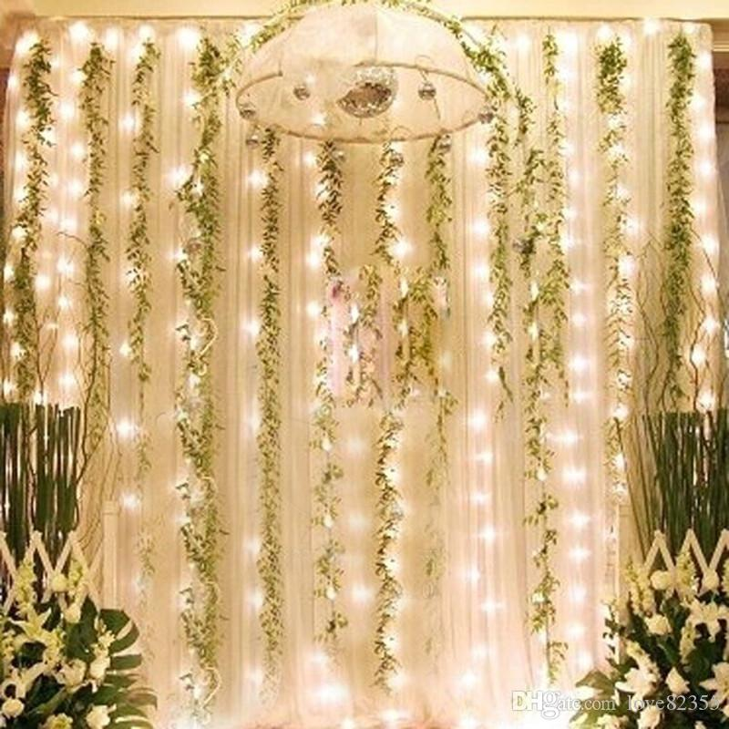 110 V-240 V UE AU EUA REINO UNIDO Plug 3 m * 2.5 m 240 LEDs luzes piscando pista LEVOU Corda cortina de luz de natal em casa jardim festival luzes
