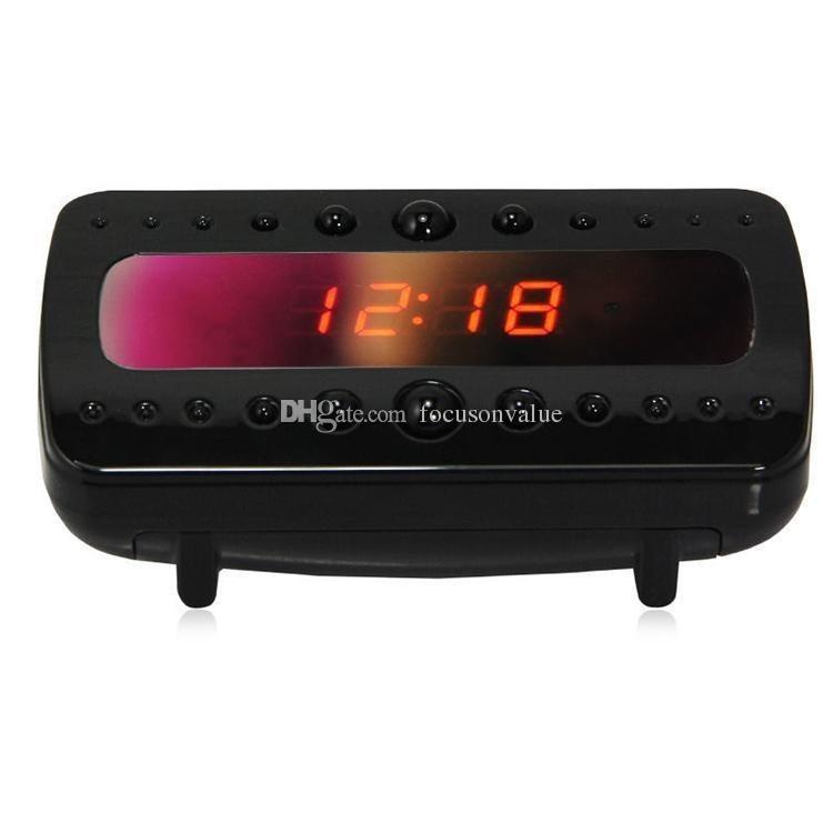 Black Pearl RF Night Vision Alarm Clock camera with Motion Detection & Remote Control Clock Mini DVR Full HD clock camera V26 in box