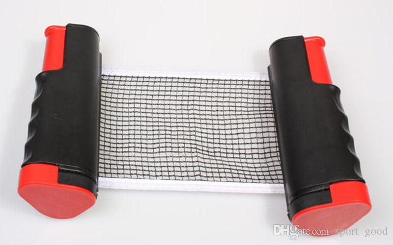 Table Tennis Nets Posts Newest Retractable Table Tennis Ping Pong Games Portable Net Kit Replacement Black Top Ping Pong Nets