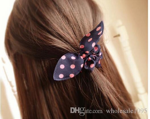 Mix Style Clips fascia capelli Polka dot corda capelli viaggio leopardo Orecchie di coniglio cravatta capelli scrunchy Accessori capelli neonati