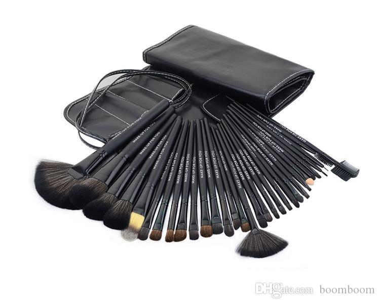 Professional Makeup Brushes Make Up Cosmetic Brush Set Kit Tool + Roll Up Case