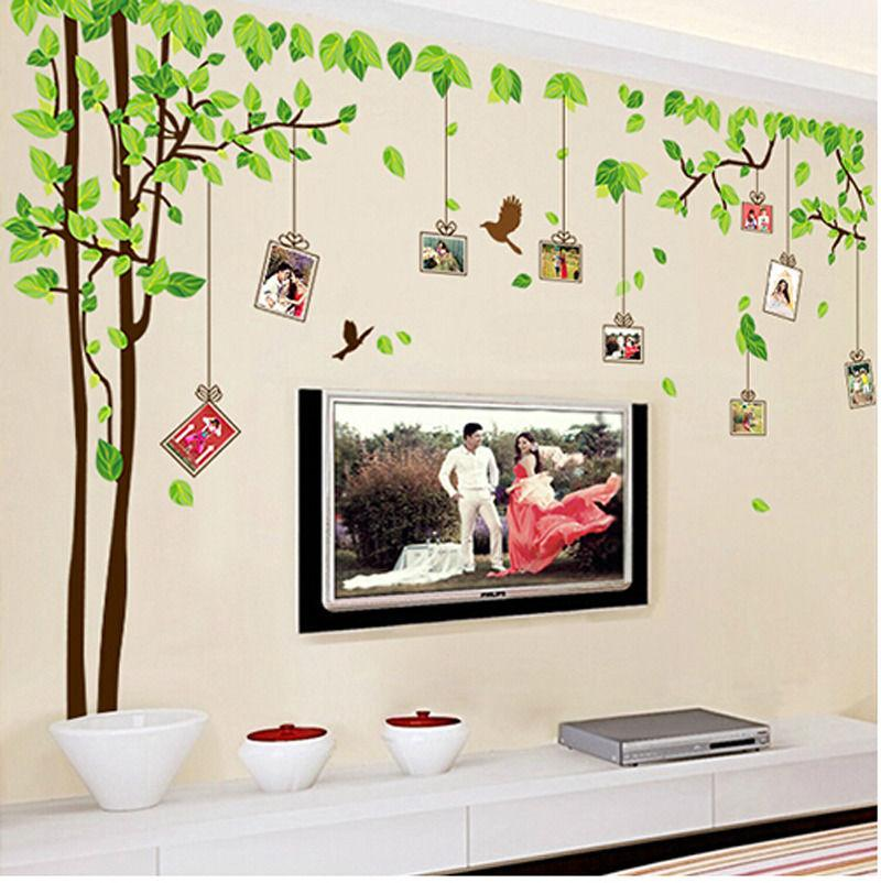 Large Family Photo Frame Memory Tree Wall Decals Stickers Vinyl - Wall decals with picture frames