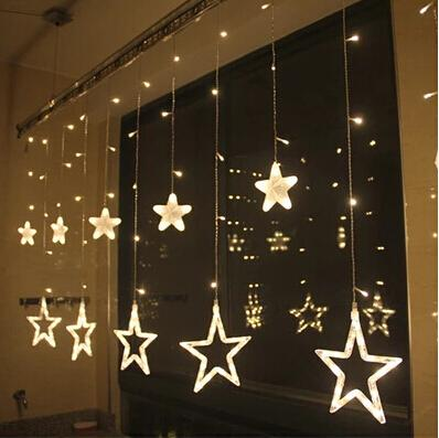 2018 128 LED Star Outdoor Wall Light Curtain Love Flash Butterfly ...