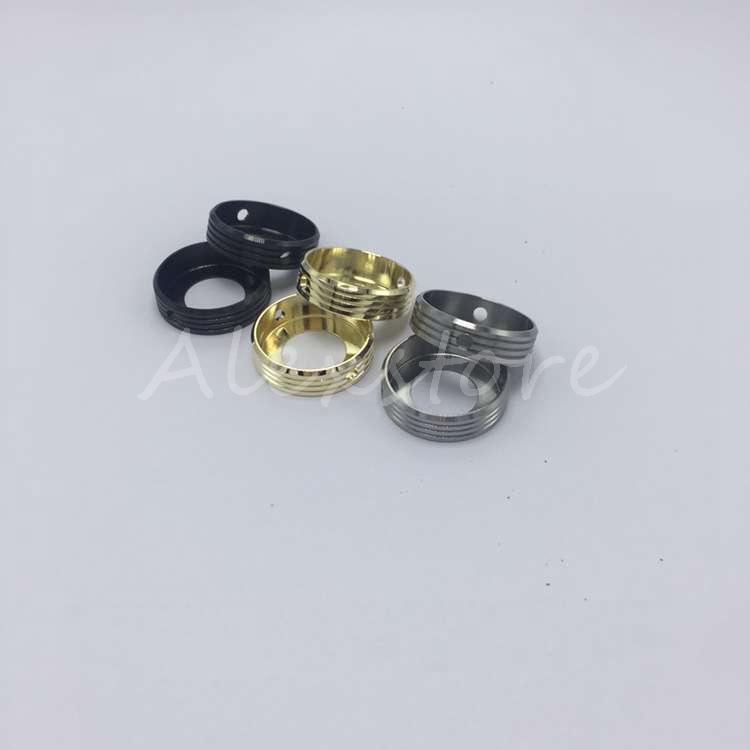 Atomizer Decorative Ring Metal Adapter 22MM Adaptor Bottom Attached 510 thread Connector for Protection Box Mech Mod Vapor RDA RBA E cig