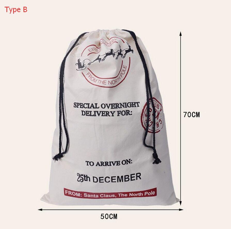 Christmas Gift Bags New Large Canvas Santa Sack Color Elk Organic Heavy Canvas Red drawstring Bag