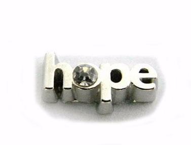 Оптовая продажа 20 шт. / лот Надежда DIY сплава плавающей медальон подвески, пригодный для стекла жизни магнитный медальон кулон
