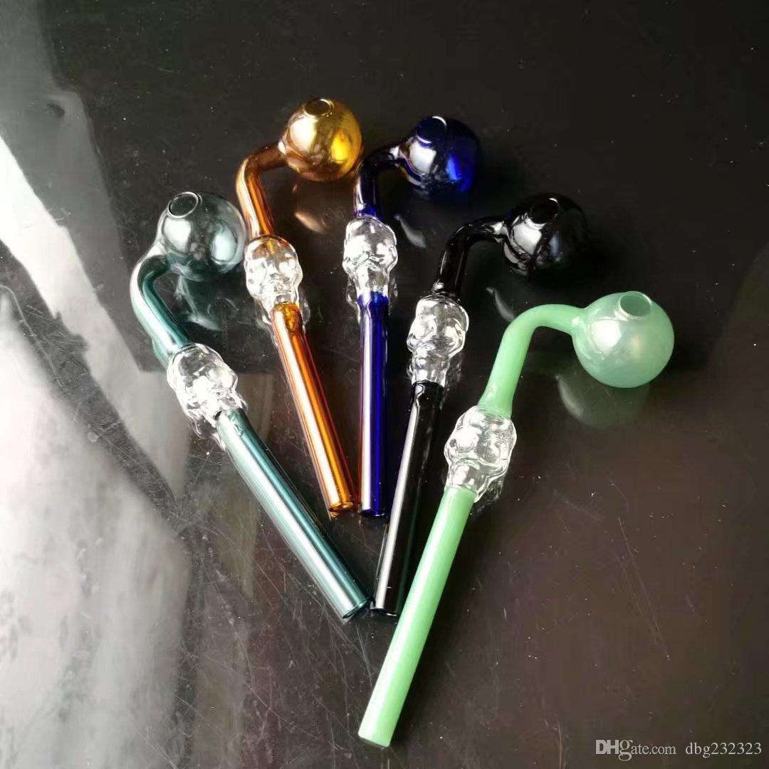 En gros tubes de verre incurvées en verre verre brûleurs tuyaux avec différents colorés balancer eau pipe pipes