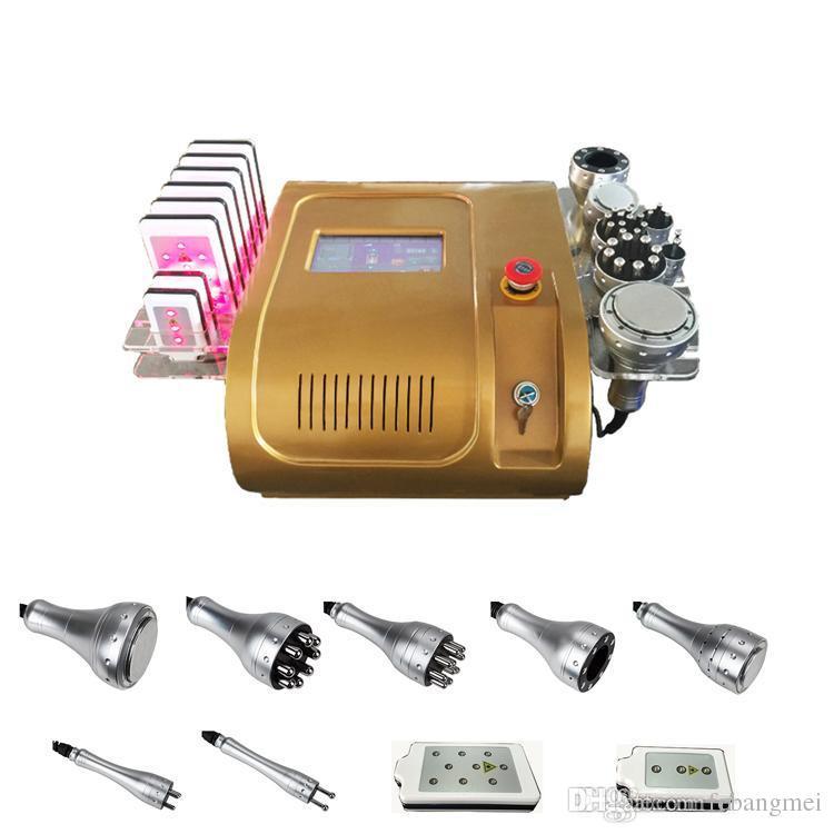 뜨거운 판매 7in1 40k Cavitation + 다극 Lipo 레이저 Multipole RF 광자 진공 지방 셀 룰 라이트 슬리밍 살롱 머신