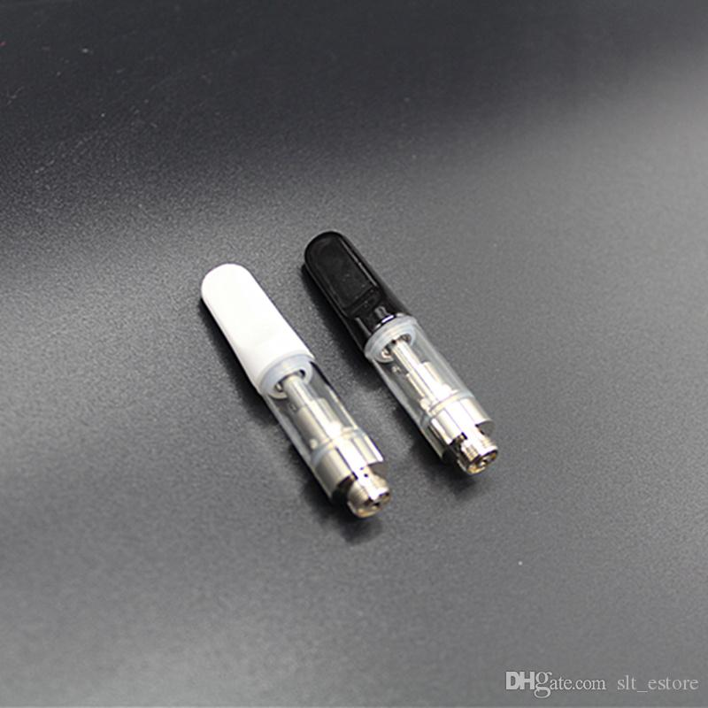 Hot items e cig vape tank cartridge 510 Cre-C Ceramic Coil with Black White Ceramic Mouthpiece .5ml Glass tank Atomizer