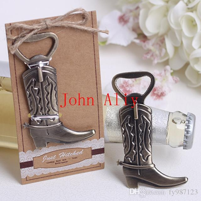 Wholesale Cowboy Boot Bottle Opener Wedding Favors And Gifts Wedding