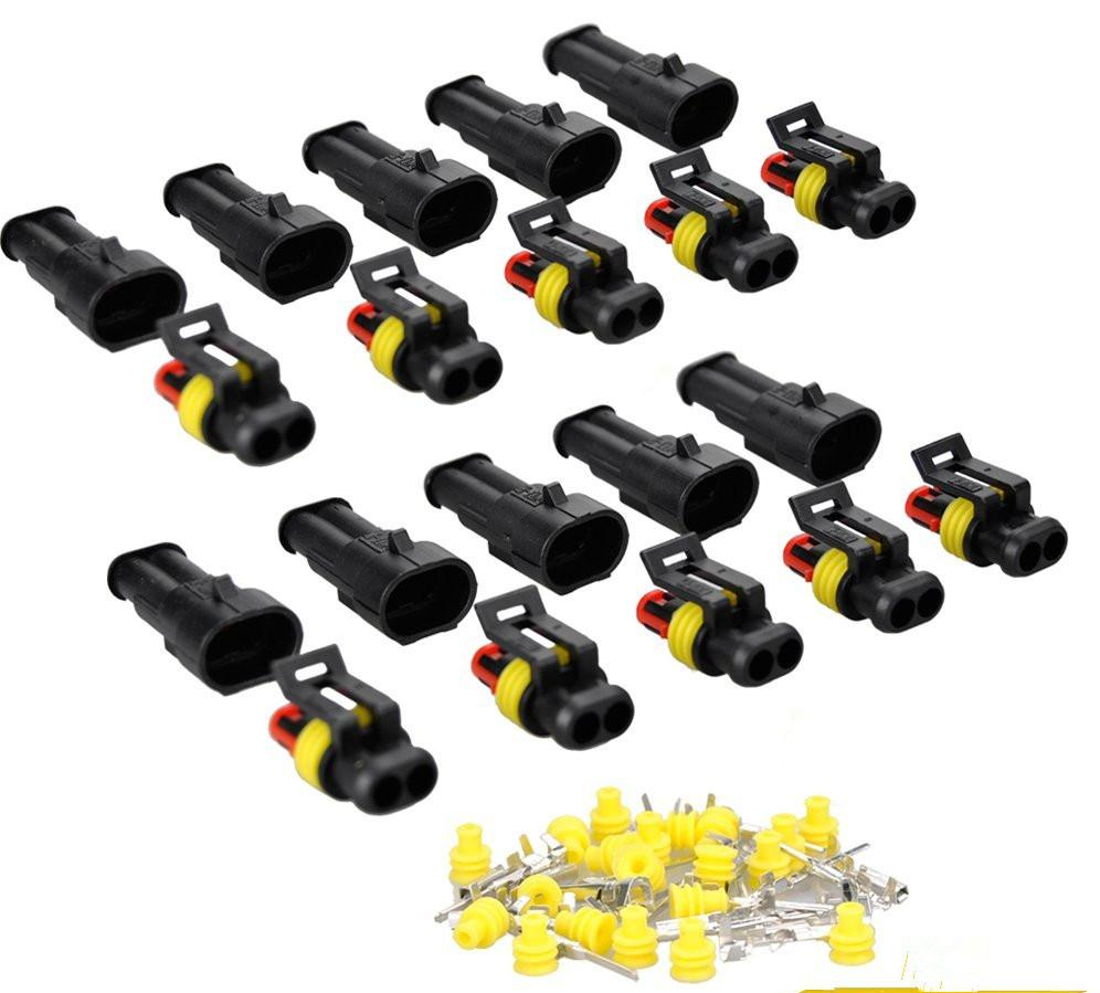 10 Kit 2 Pin Way Waterproof Electrical Wire Connector Plug  sc 1 st  DHgate.com : auto wiring connectors - yogabreezes.com