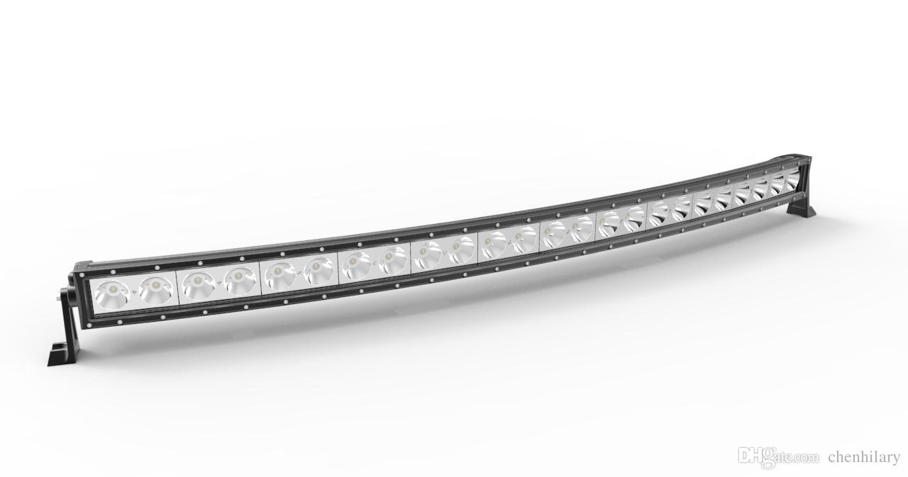 50 '' pollici Super barra luminosa luce USA CREE 10WX24 240W curvo LED di guida off-road ATV faro di inondazione del punto Combo 12V / 24V