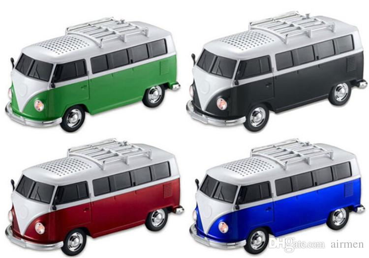 Christmas gift WS-266 USB Portable Mini Bus Speakers Car Player Support FM Radio Support TF / U-disk For Cellphone / Mp3 player