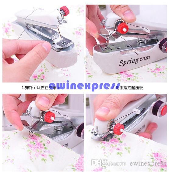 جديد متعدد الوظائف المنزلية مصغرة اليدوية ماكينة الخياطة المحمولة مقبض جيب صغير أقمشة الملابس مفيد سارتوريوس ماكينة الخياطة