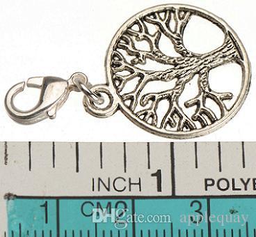Istakoz toka ile diy yapımı takı için kolye charms antik gümüş bitki hayat ağacı yeni moda takı aksesuarları tedarikçisi 150 adet