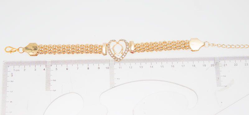 Frete Grátis Dubai 18 K Banhado A Ouro Coração Forma Colar Set Moda Casamento De Cristal De Noiva Traje Jóias Ses