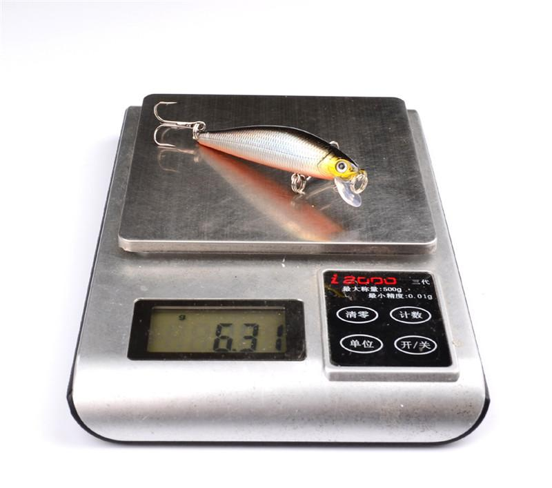 새 생생한 물고기 wobbler Swimbaits 민물 낚시 미끼 7cm 6.3g 크랭크 미끼 하드 플라스틱 미노 미끼 인공 미끼