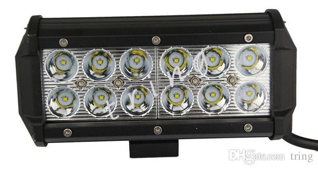 Lavoro Light Bar 7inch 36W Cree LED luci di lavoro 4WD 4x4 12v 24v camion trattore fuoristrada SUV ATV guida moto fendinebbia