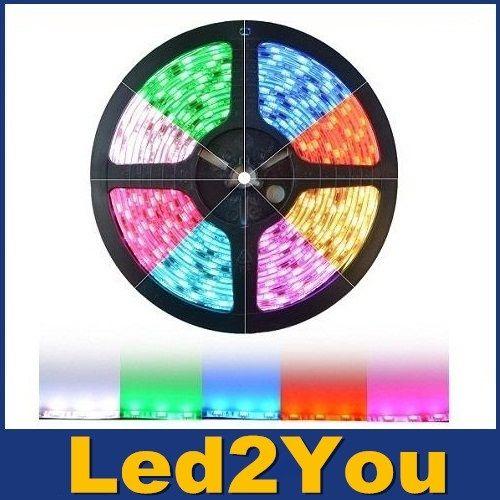 1m 2m 3m 5m Smd2835 Not Waterproo Pir Motion Sensor Bed: 200m RGB Led Strips SMD 5050 5M 300 Leds Waterproof IP65