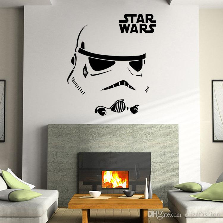 Small Size Star Wars Stromtrooper Wall Stickers Decals Star Wars Character  Letters Wall Decal Fans Home Decorations 3 Sizes Decorative Stickers For  Wall ... Part 60